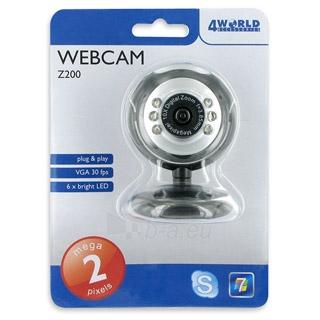 4World Internetinė kamera 2.0MP USB 2.0 su LED apšvietimu  mikrofon, universali Paveikslėlis 3 iš 4 250255220230