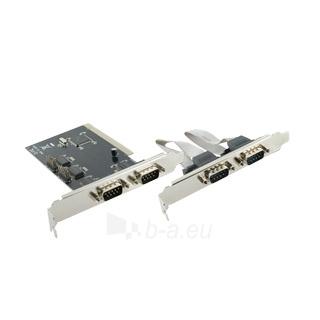 4World Kontroleris PCI / Nuoseklus portas Serial RS-232 x4 Paveikslėlis 1 iš 2 250255081293