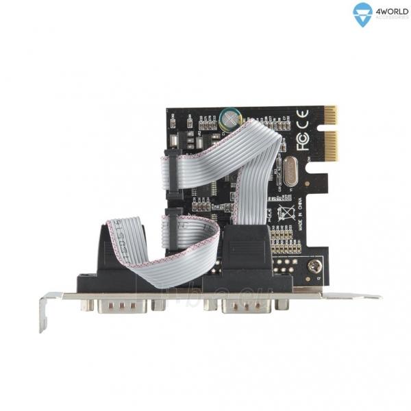 4World Kontroleris PCI-E / Nuoseklus portas Serial RS-232 x2 Paveikslėlis 2 iš 2 250255081319