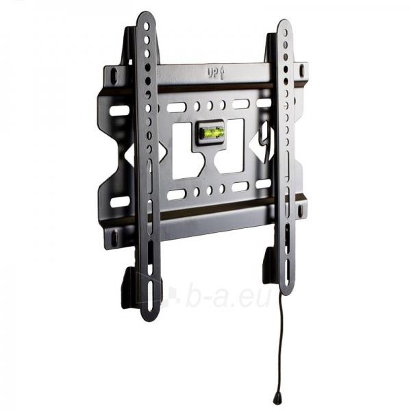 4World LCD sieninis laikiklis 15- 37 fiksuotas, SLIM, TV svoris iki 45kg BLK Paveikslėlis 1 iš 4 250226200490