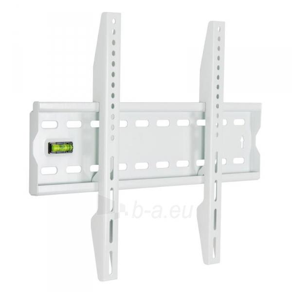 4World LCD sieninis laikiklis 17''- 37'' fiksuotas, SLIM, TV svoris iki 40kg WHT Paveikslėlis 1 iš 3 250226200272