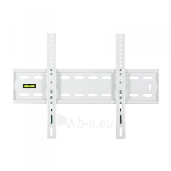 4World LCD sieninis laikiklis 17''- 37'' fiksuotas, SLIM, TV svoris iki 40kg WHT Paveikslėlis 2 iš 3 250226200272