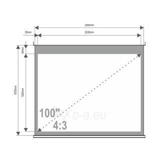 4World Projekciniai ekranai ant sienos 203x152 (100'', 4:3) Matt White Paveikslėlis 3 iš 7 30058000003