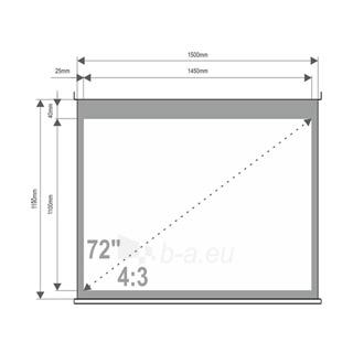 4World Projekciniai ekranai su stovu 145x110 (72'',4:3) Matt White Paveikslėlis 3 iš 7 30058000004