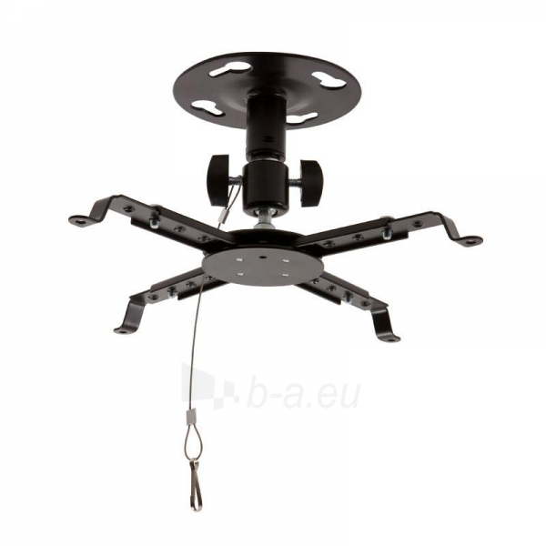 4World Projektoriaus laikiklis, luboms,pasukamas/palenkiamas, 12,5 cm, BLK Paveikslėlis 1 iš 4 30058300121