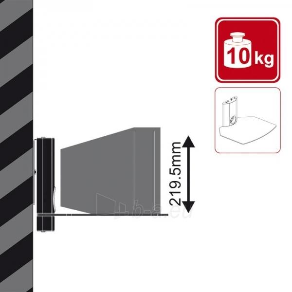 4World Sieninis  DVD/Blu-Ray grotuvo laikiklis, svoris iki 10kg BLK Paveikslėlis 3 iš 6 250226200571