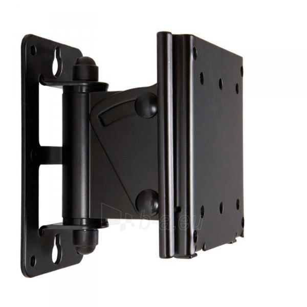 4World sieninis laikiklis LCD15-22pasukamas/palenkiamas TV svoris iki 30kg BLK Paveikslėlis 1 iš 5 250226200519