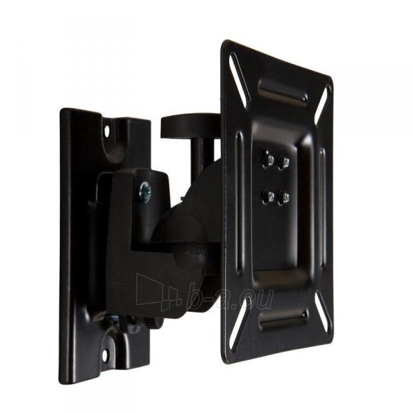 4World Sieninis LCD 15-22 laikiklis pasukamas/palenkiamas, TV iki 15kg BLK Paveikslėlis 1 iš 6 250226200521