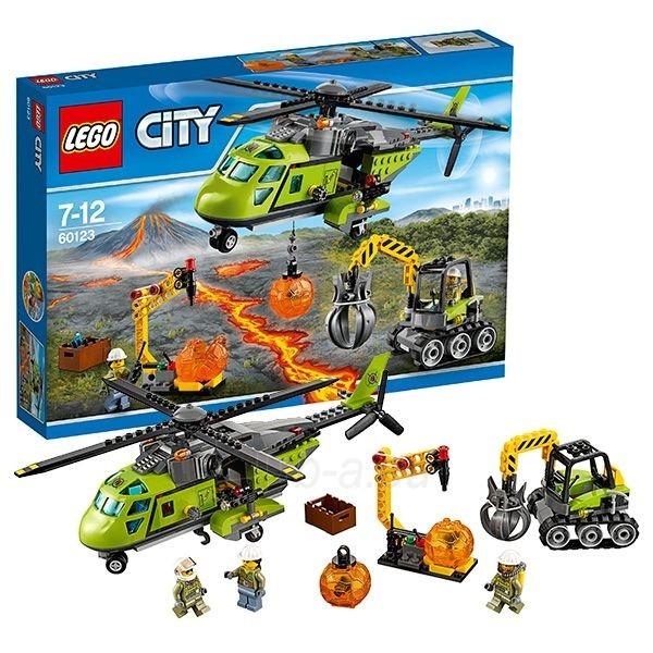 60123 LEGO City ugnikalnio tyrinėjimo sraigtasparnis, 7-12 m. Paveikslėlis 1 iš 1 310820048274