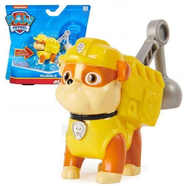 6022626 Spin Master PAW PATROL RUBBLE Sounds When You Press His Badge Paveikslėlis 4 iš 6 310820252818