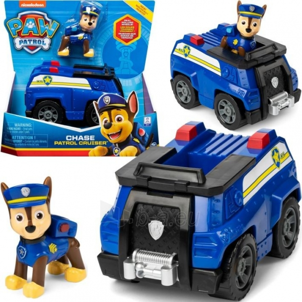 6052310 CHASE PAW Patrol Chase's Patrol Cruiser Vehicle with Collectible Figure SPIN MASTER Paveikslėlis 1 iš 3 310820252859