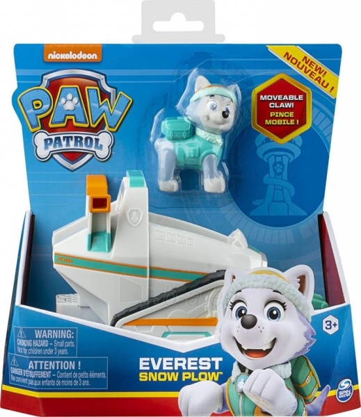 6052310 PAW Patrol Everest's Snow Plough Vehicle with Collectible Figure EVEREST SPIN MASTER Paveikslėlis 4 iš 6 310820252861