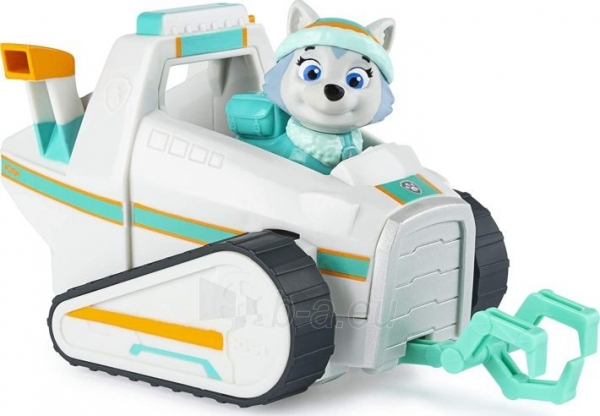 6052310 PAW Patrol Everest's Snow Plough Vehicle with Collectible Figure EVEREST SPIN MASTER Paveikslėlis 5 iš 6 310820252861