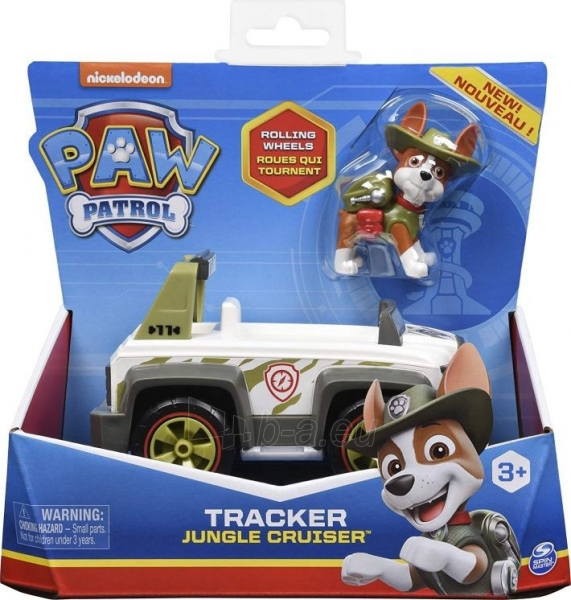 6052310 PAW Patrol Tracker's Jungle Cruiser Vehicle with Collectible Figure TRACKER SPIN MASTER Paveikslėlis 4 iš 6 310820252862