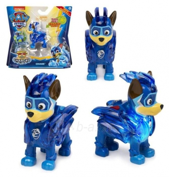 6055929 Spin Master Paw Patrol Mighty Pups Charged Up Figure - CHASE Paveikslėlis 1 iš 6 310820252822