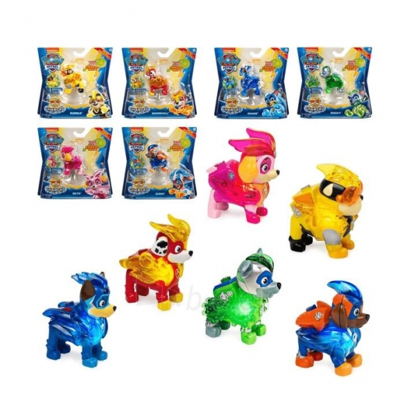 6055929 Spin Master Paw Patrol Mighty Pups Charged Up Figure - RUBBLE Paveikslėlis 3 iš 5 310820252823