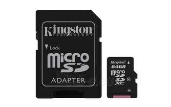 64GB MICROSDXC CLASS 10 FLASH CARD Paveikslėlis 1 iš 1 250255120977