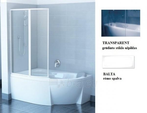 76L80100Z1 VSK2 TRANSPARENT ROSA 150L, vonios sienelė Paveikslėlis 1 iš 2 270717001217