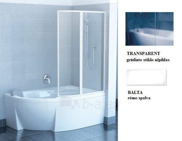 76P80100Z1 VSK2 TRANSPARENT ROSA 150R, vonios sienelė Paveikslėlis 1 iš 1 270717001284