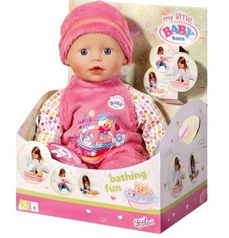 821015 Интерактивная кукла Zapf Creation my little Baby born быстросохнущая, 32 см, дисплей Paveikslėlis 1 iš 3 250710901400