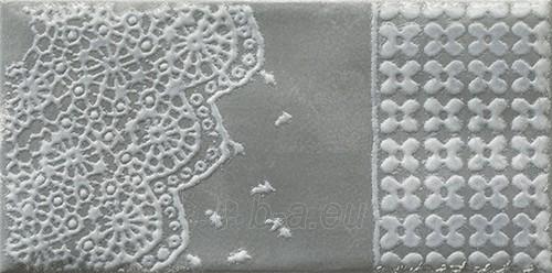 9.8*19.8 MOLI NERO INS D, dekoruota plytelė Paveikslėlis 1 iš 1 310820029689