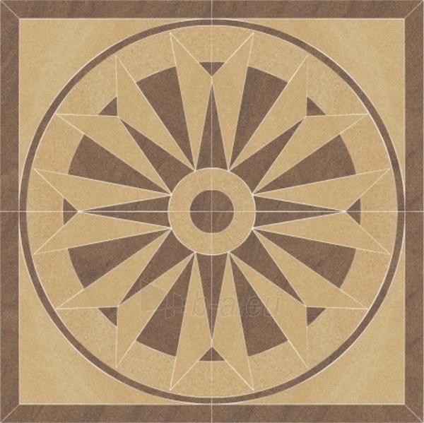 90*90 ARKESIA MOCCA ROZETA, dekoruota akmens masės plytelė Paveikslėlis 1 iš 1 237751003339
