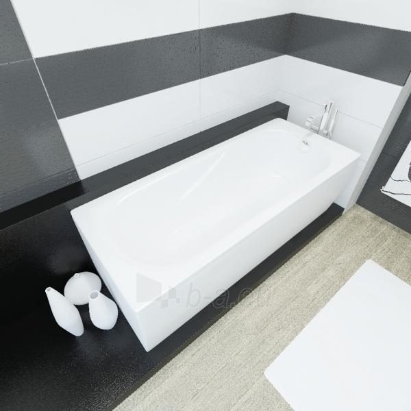 Akmens masės vonia VISPOOL CLASSICA 180x75 stačiakampė balta Paveikslėlis 1 iš 5 270716000126