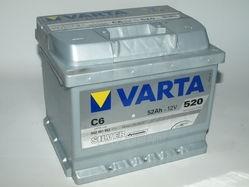 Akumuliatorius 52Ah/12V/520A/C6 Silver Paveikslėlis 1 iš 1 250331000066