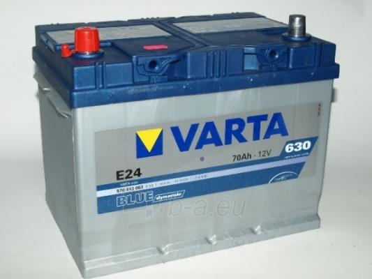 Akumuliatorius 70Ah/12V/630A/E24 (L+) Blue Paveikslėlis 1 iš 1 250331000056
