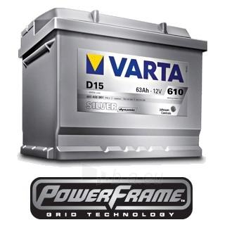 Akumuliatorius VARTA Silver dynamic 61Ah Paveikslėlis 1 iš 1 250331000012