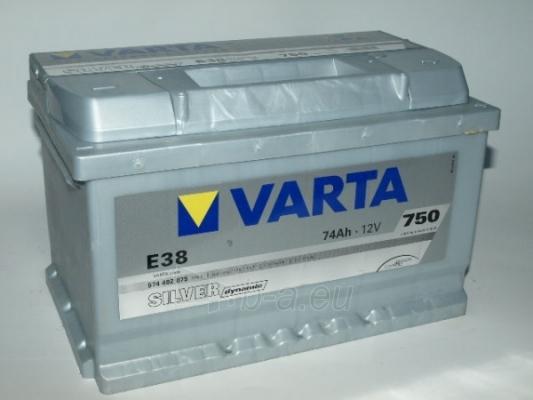 Akumuliatorius VARTA Silver dynamic 74 Ah E38 Paveikslėlis 1 iš 1 250331000068