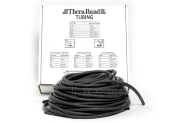 Apvali juosta mankštai THERA-BAND juoda (1 m) Paveikslėlis 1 iš 1 250620600022