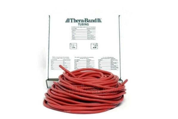 Apvali juosta mankštai THERA-BAND raudona (1 m) Paveikslėlis 1 iš 1 250620600019