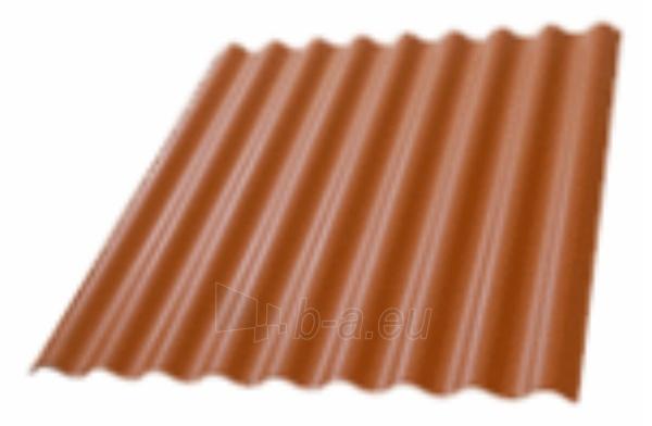 Non-asbestos slate sheets 2500x1150 'Eurofala' brown (mocca) Paveikslėlis 1 iš 2 237120000150