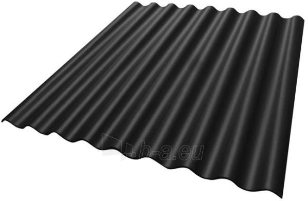 Non-asbestos slate sheets 625x1020 'Eurofala' black Paveikslėlis 1 iš 1 237120000195