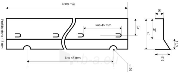 Betonavimo profilis BF 40 Paveikslėlis 1 iš 1 236250100000