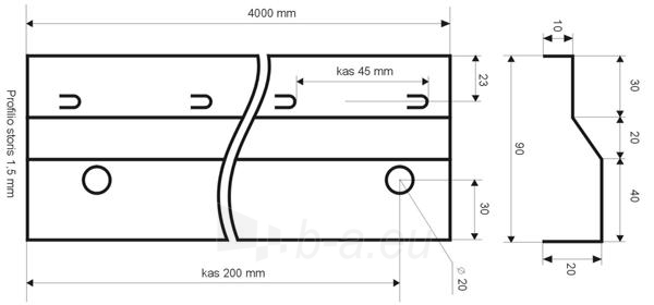 Betonavimo profilis BF 90 Paveikslėlis 1 iš 1 236250100004