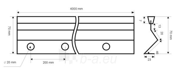 Betonavimo profilis BFP 70 Paveikslėlis 1 iš 1 236250100011