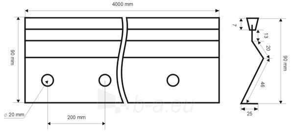 Betonavimo profilis BFP 90 Paveikslėlis 1 iš 1 236250100012