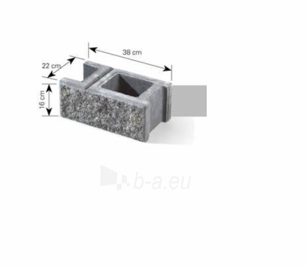 Concrete fence block Nojus A-1(white) Paveikslėlis 5 iš 9 239320300010