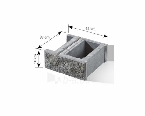 Betoninis tvoros pamūros blokelis B-1 (tamsi smėlio) Paveikslėlis 5 iš 8 239320300013