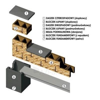 Concrete fence block Nojus A-3 (brown) Paveikslėlis 2 iš 8 239320300021