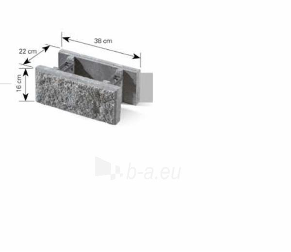 Concrete fence block Nojus A-3 (brown) Paveikslėlis 4 iš 8 239320300021
