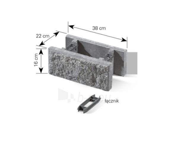 Concrete fence block Nojus A-3 (brown) Paveikslėlis 5 iš 8 239320300021