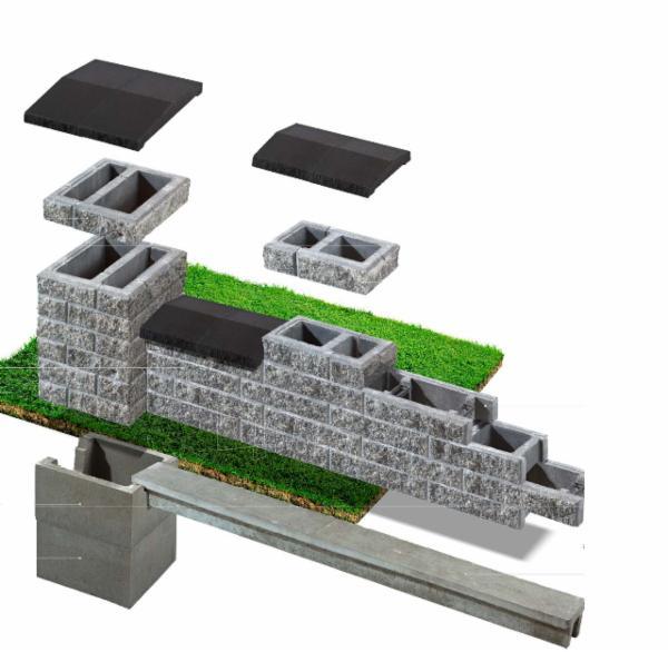Concrete fence block Nojus A-3 (brown) Paveikslėlis 8 iš 8 239320300021