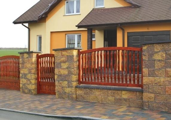 Concrete fence block Nojus B-1 (brown) Paveikslėlis 2 iš 6 239320300028
