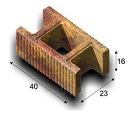 Concrete fence block Riflis C2 (red) Paveikslėlis 1 iš 3 239320300033