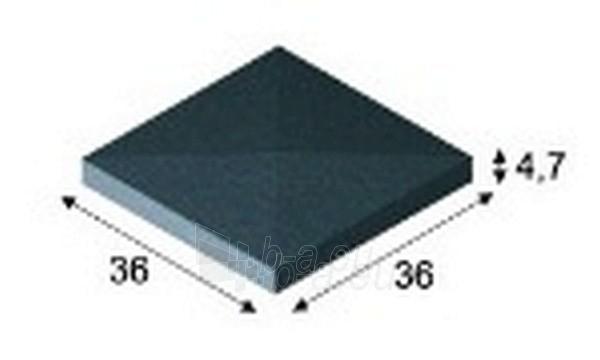 Betoninis tvoros stogelis dvišlaitis E6 36x36x4,7 cm Paveikslėlis 1 iš 1 239320400005