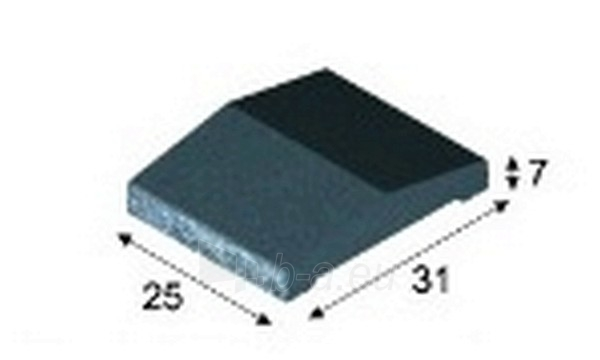 Concrete fence canopies (double pitched) E8 25x31x7 cm (broken wing) Paveikslėlis 1 iš 1 239320400007