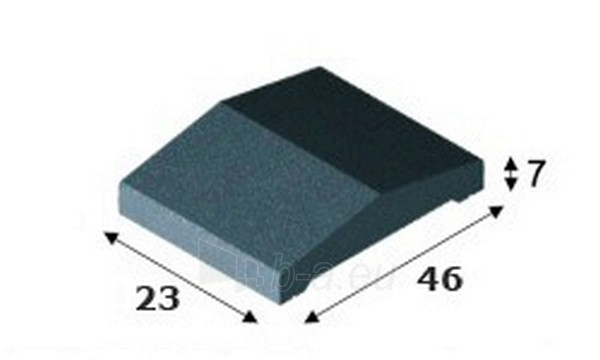 Concrete fence canopies (double pitched) E9 23x46x7 cm Paveikslėlis 1 iš 1 239320400008
